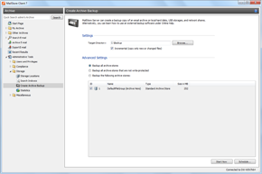 Create archive Backups